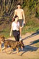 nikki reed super bowl hiking with shirtless brother nathan 14