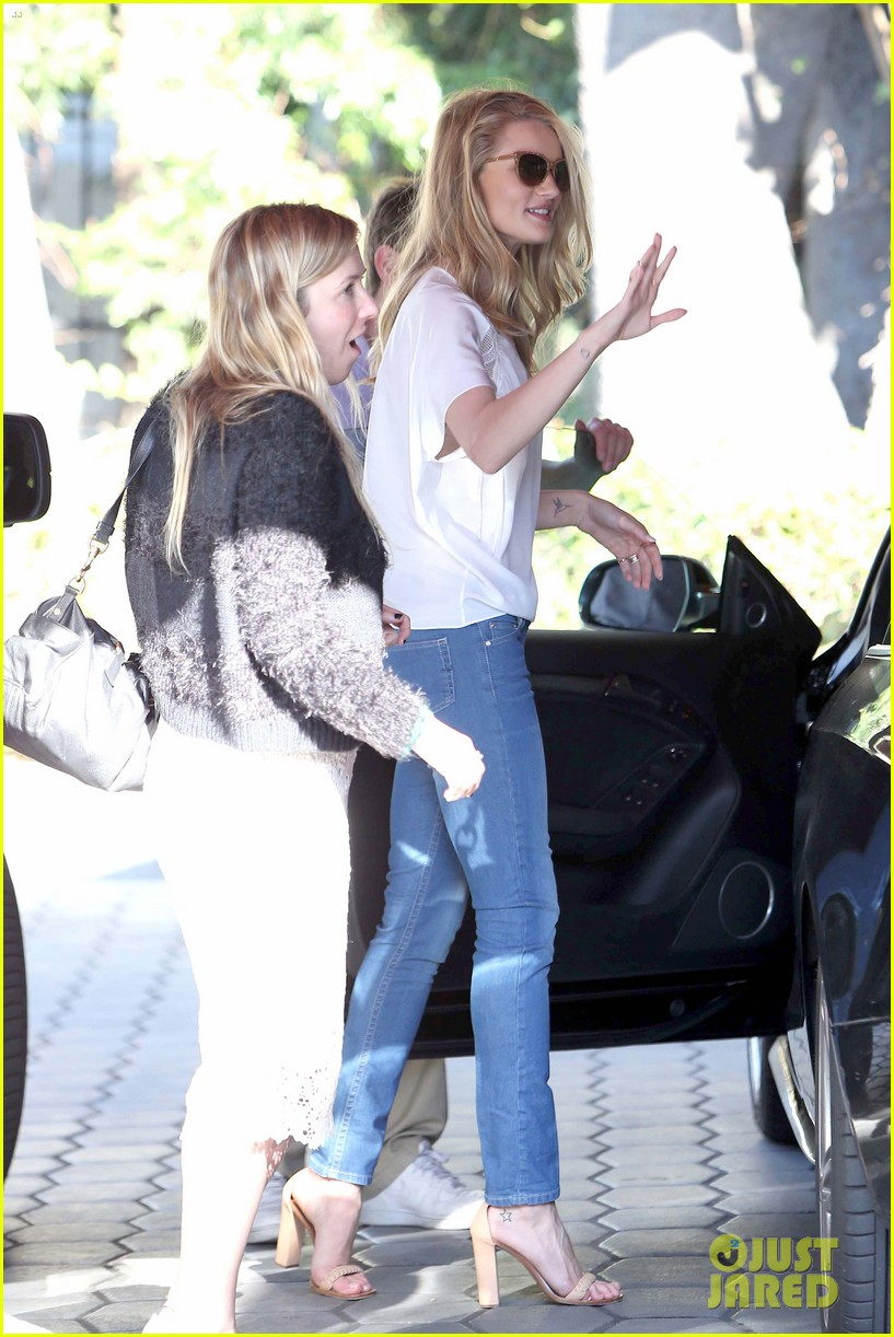 rosie huntington whiteley topless in cher coulter jeans 11