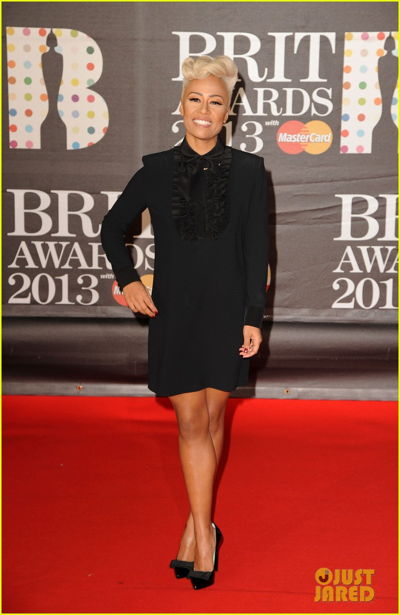 emeli sande brit awards 2013 performance red carpet 08
