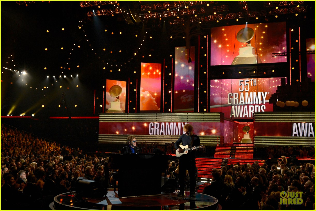 ed sheeran elton john grammys 2013 performance watch now 032809409