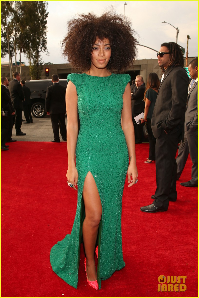 solange knowles grammys 2013 red carpet 03