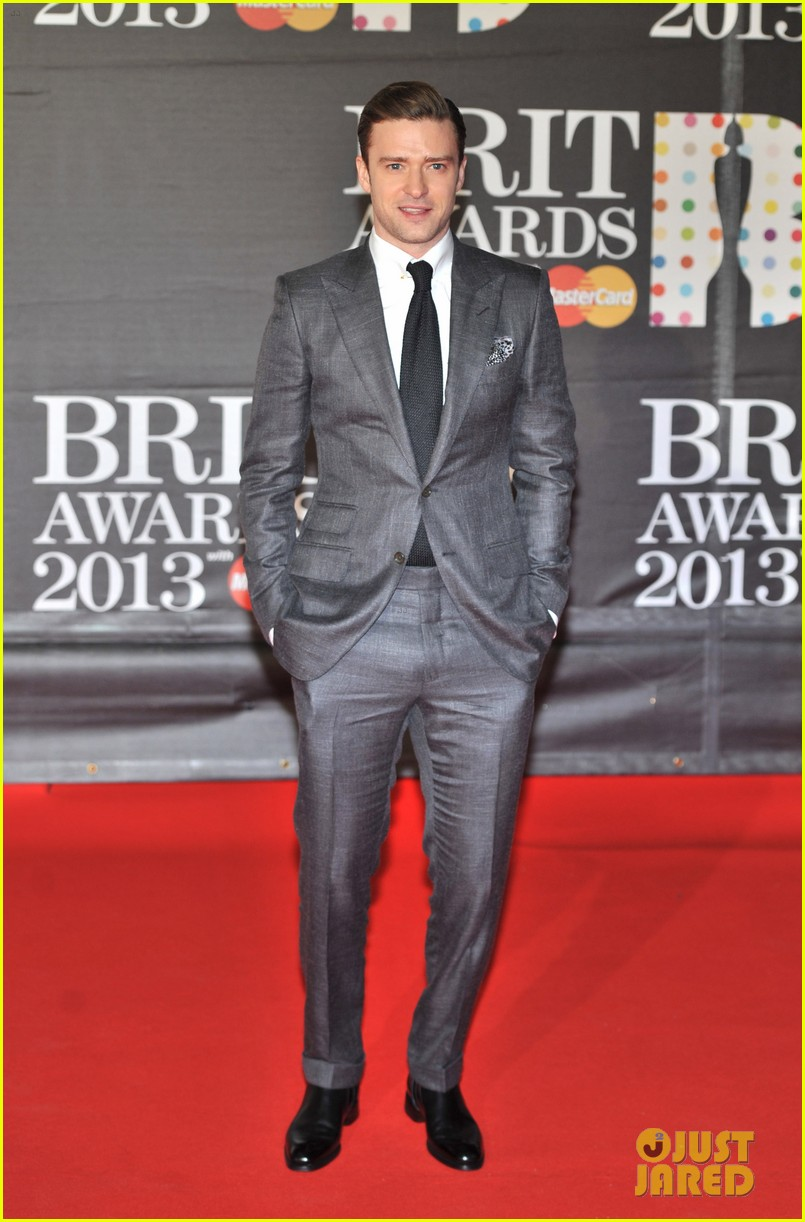 justin timberlake brit awards 2013 red carpet 052815833
