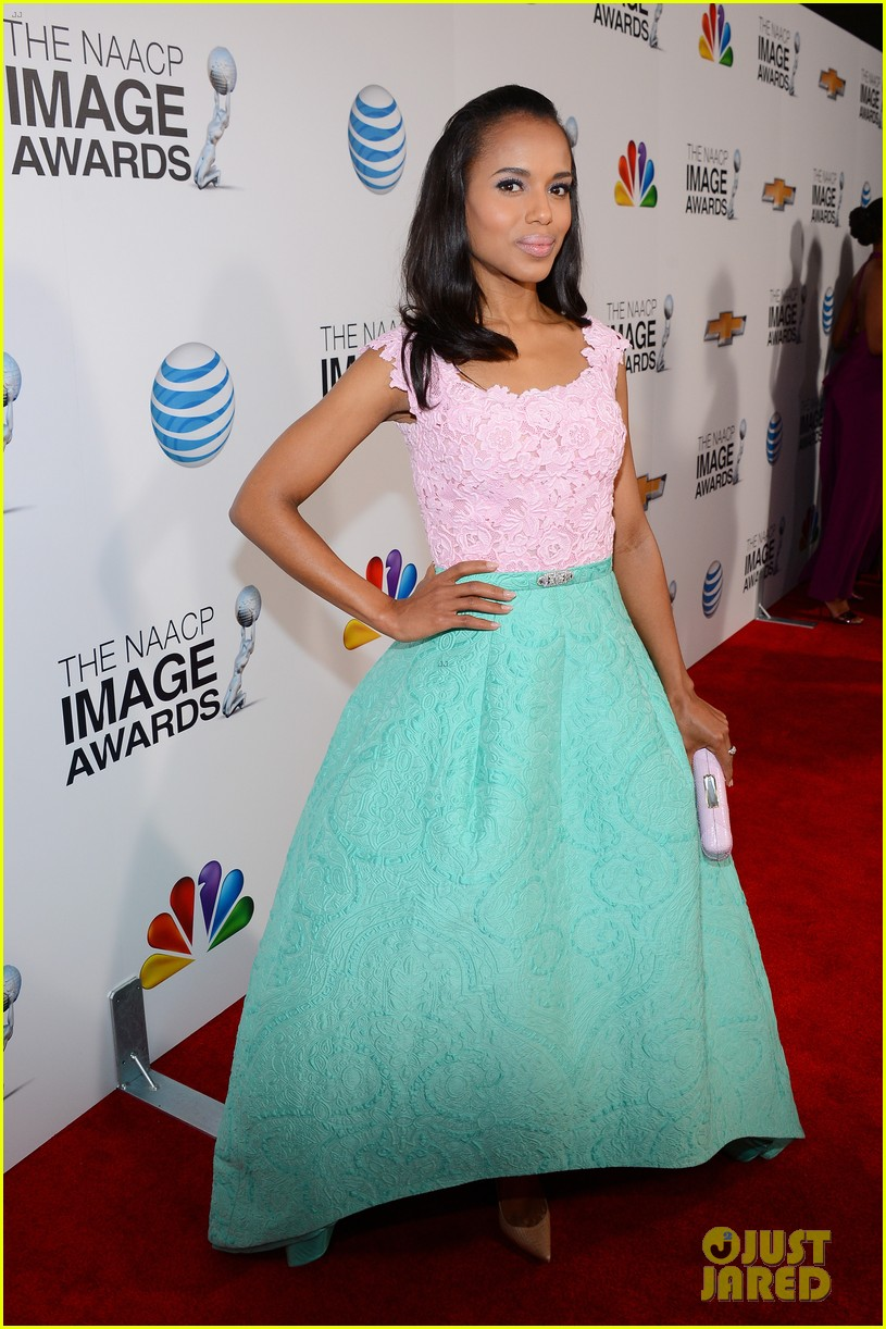 kerry washington naacp image awards 2013 red carpet 15
