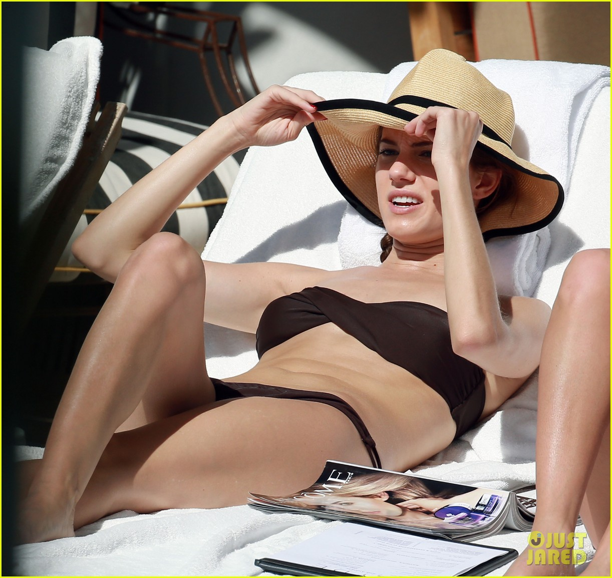 allison williams bikini babe in miami 10