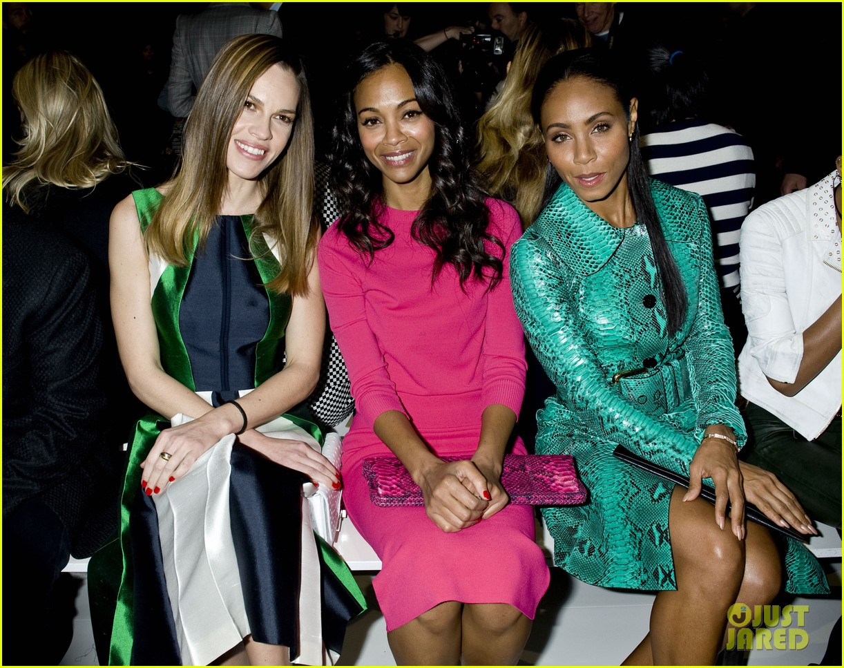 zoe saldana willow jada pinkett smith michael kors show 042811398