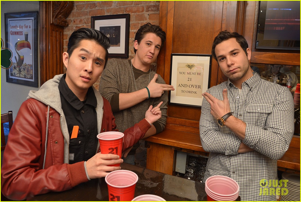 miles teller skylar astin justjared exclusive interview 02