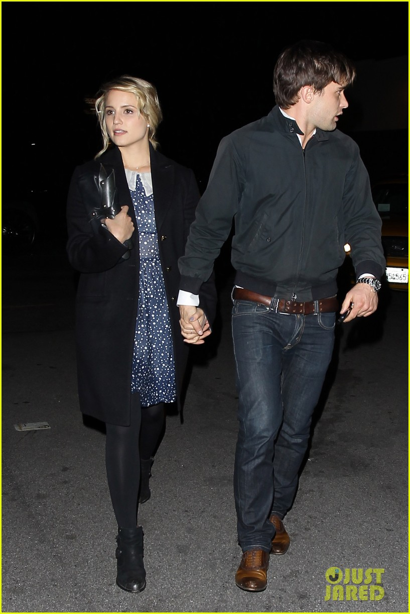dianna agron christian cooke holding hands at sayers club 01