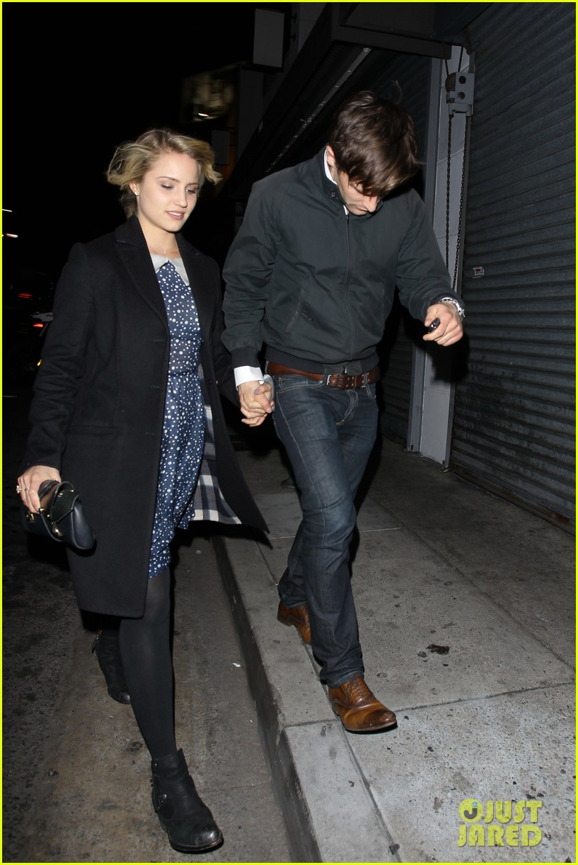 dianna agron christian cooke holding hands at sayers club 05