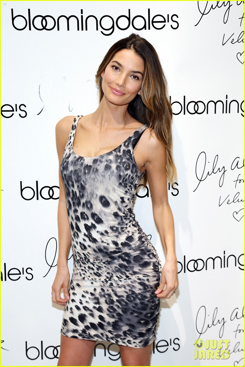 lily aldridge velvet collection launch at bloomingdales 06