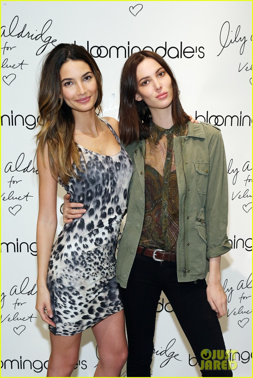 lily aldridge velvet collection launch at bloomingdales 11
