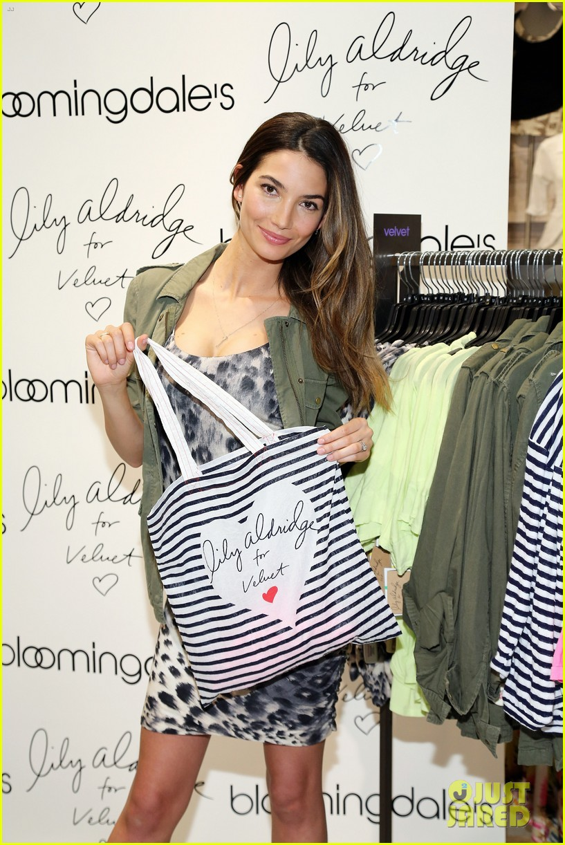 lily aldridge velvet collection launch at bloomingdales 13