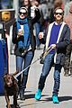 anne hathaway adam shulman dog walk in brooklyn 01