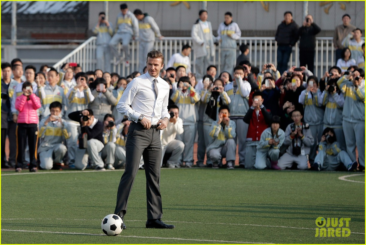 david beckham beijing guoan football club visit 02
