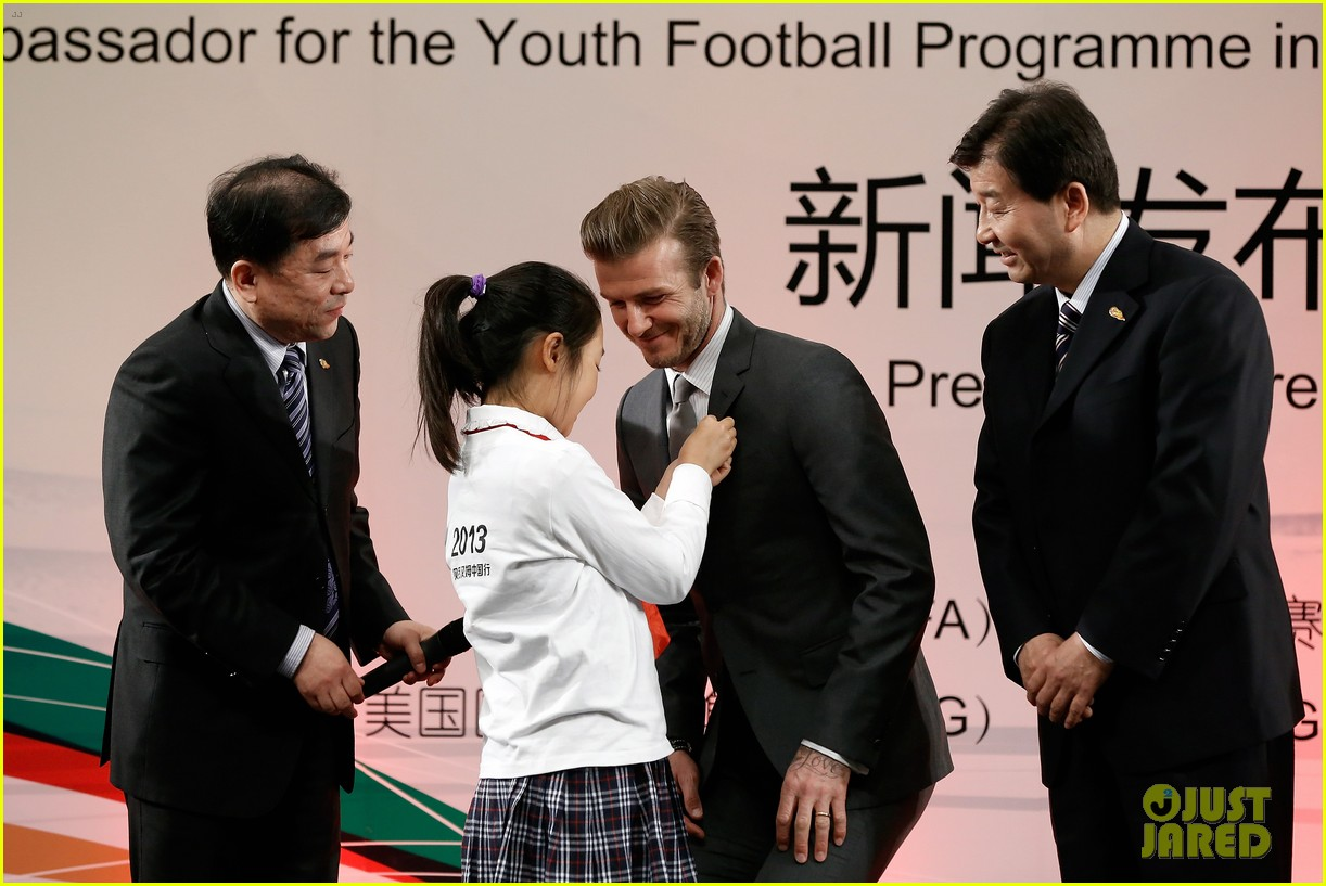 david beckham beijing guoan football club visit 132834942