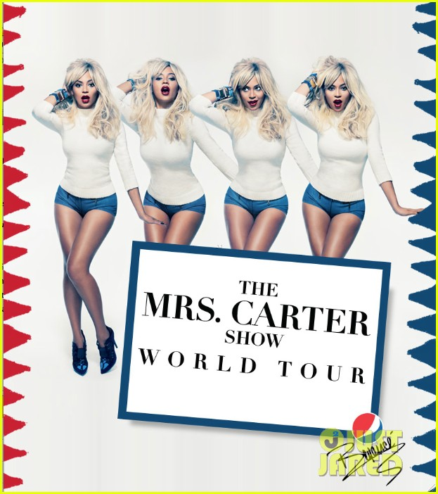 beyonce blonde for mrs carter world tour promo pic 01