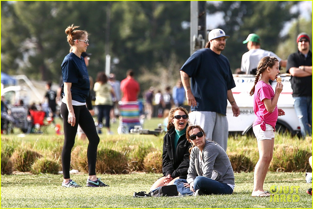 britney spears kevin federline sean preston jayden james soccer games 112825552