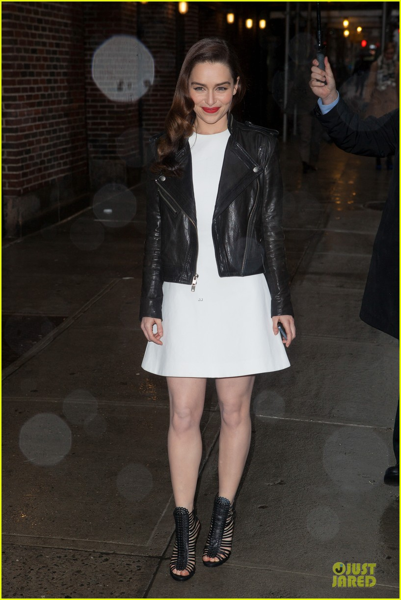 emilia clarke late show with david letterman taping 01