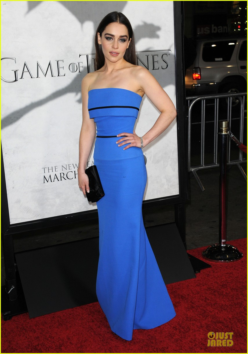 emilia clarke game of thrones season 3 premiere party 16