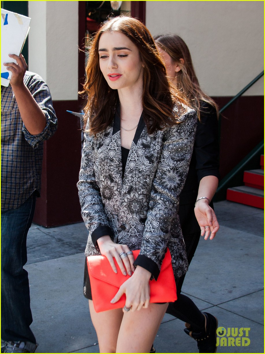 lily collins extra appearance with michael angarano 08