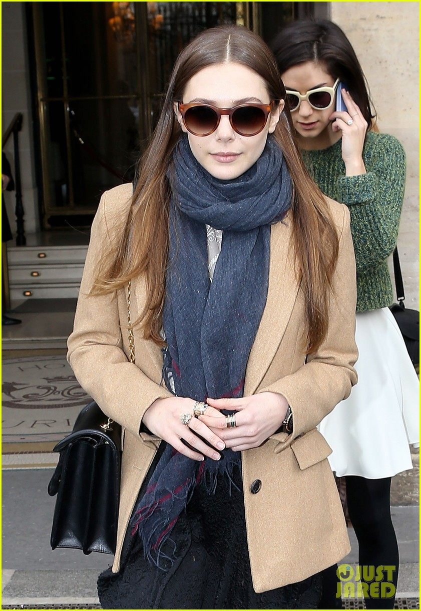 lily collins elizabeth olsen paris fashion week fun 082826391