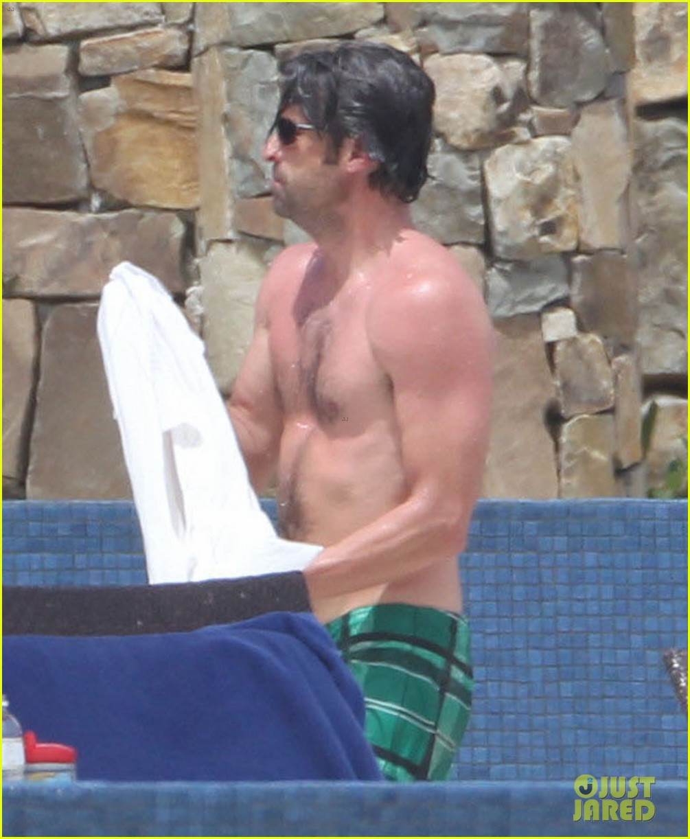 patrick dempsey shirtless family vacation in cabo 04
