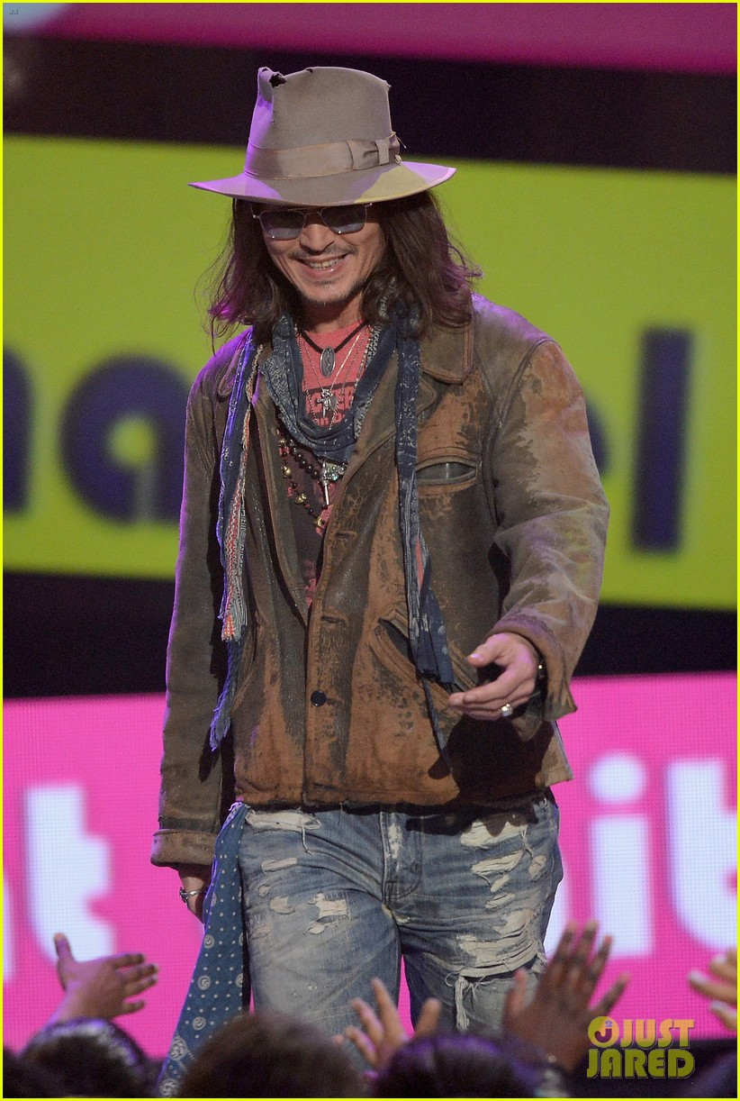 johnny depp kids choice awards 2013 winner 04