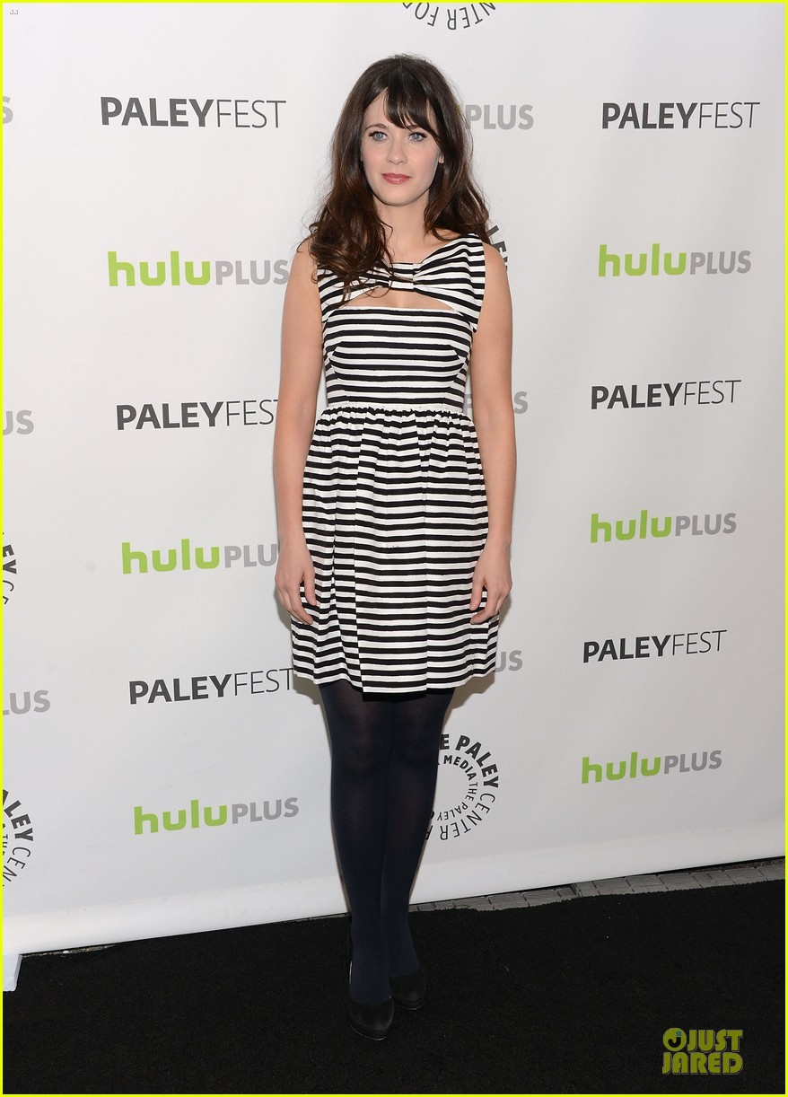 zooey deschanel paleyfest with new girl cast 092829159