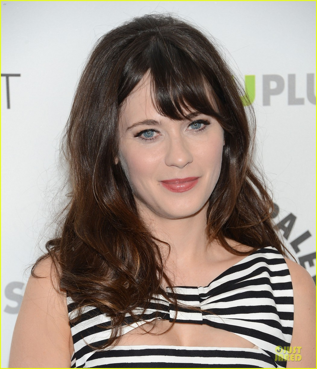 zooey deschanel paleyfest with new girl cast 13