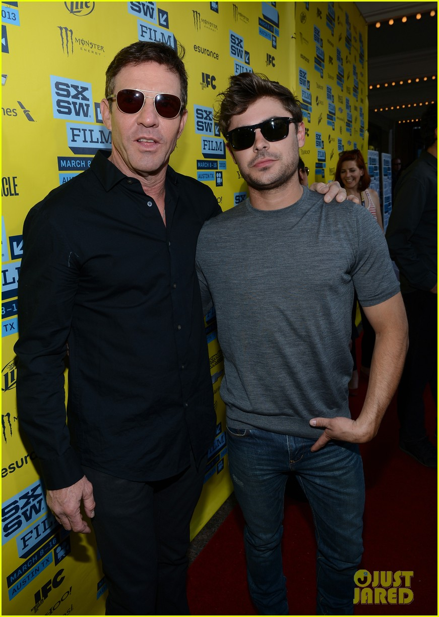 zac efron dennis quaid at any price sxsw premiere 132831798