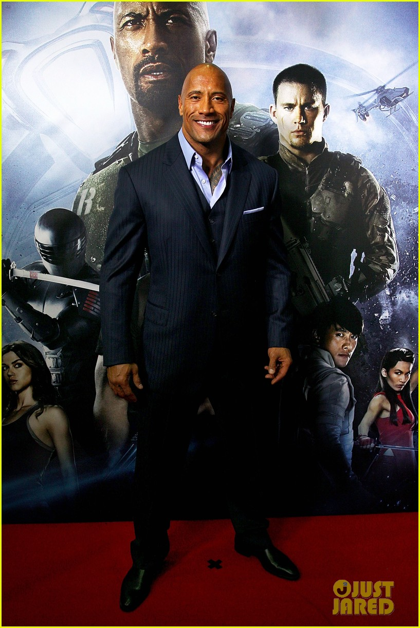 dwayne johnson g i joe 2 retaliation australian premiere 012830355