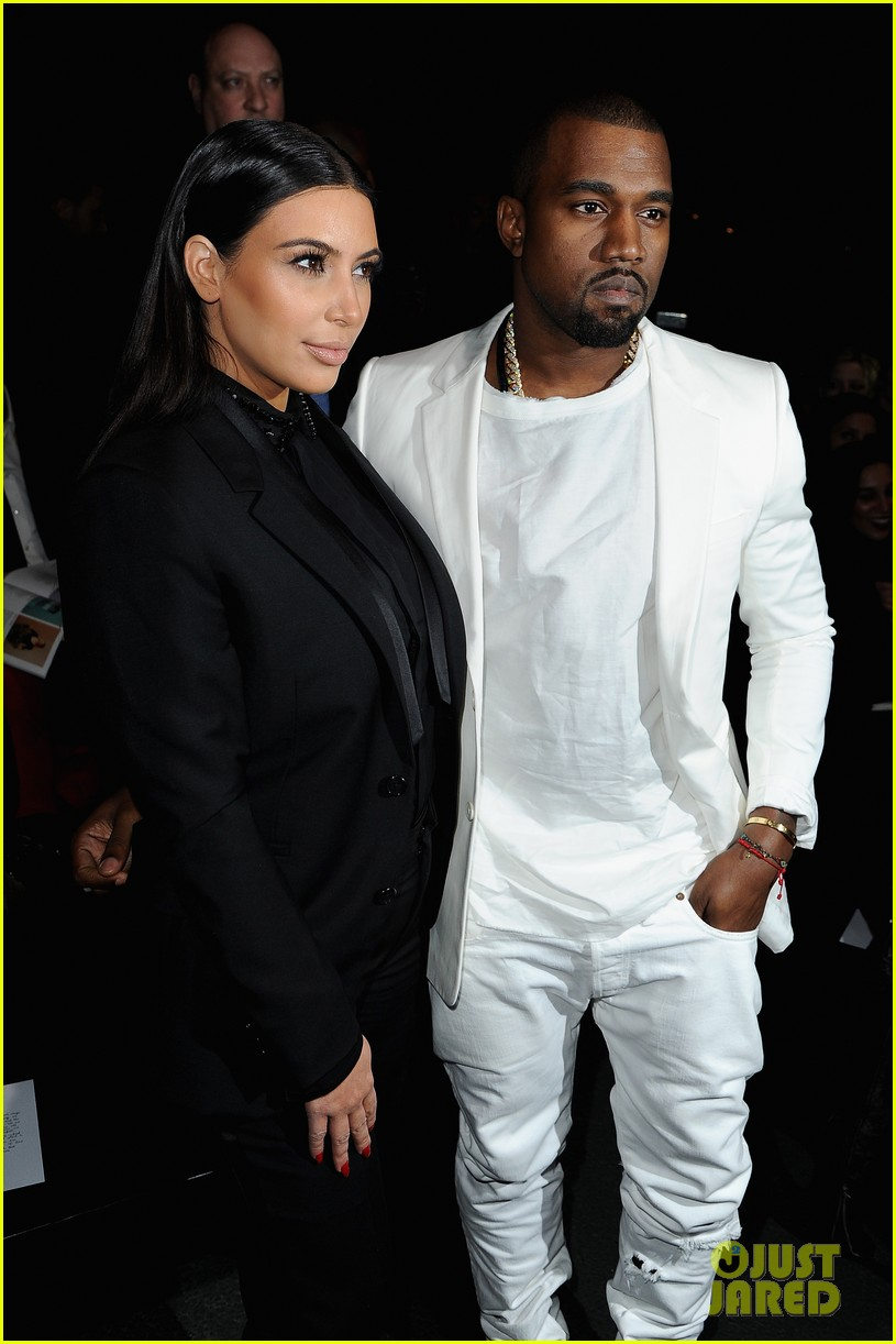 kim kardashian kanye west givenchy show couple 05