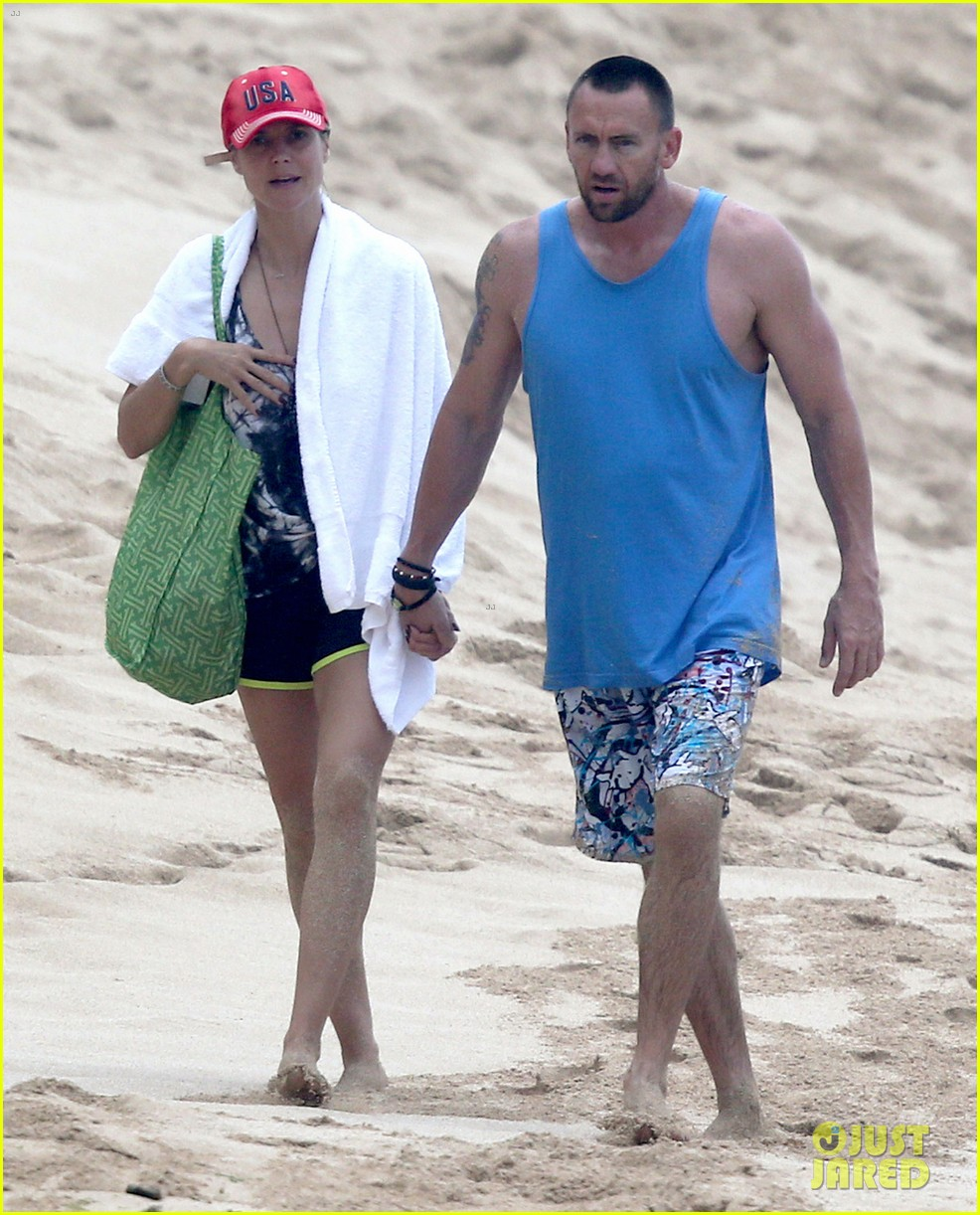 heidi klum martin kirsten hawaii beach day with the family 15