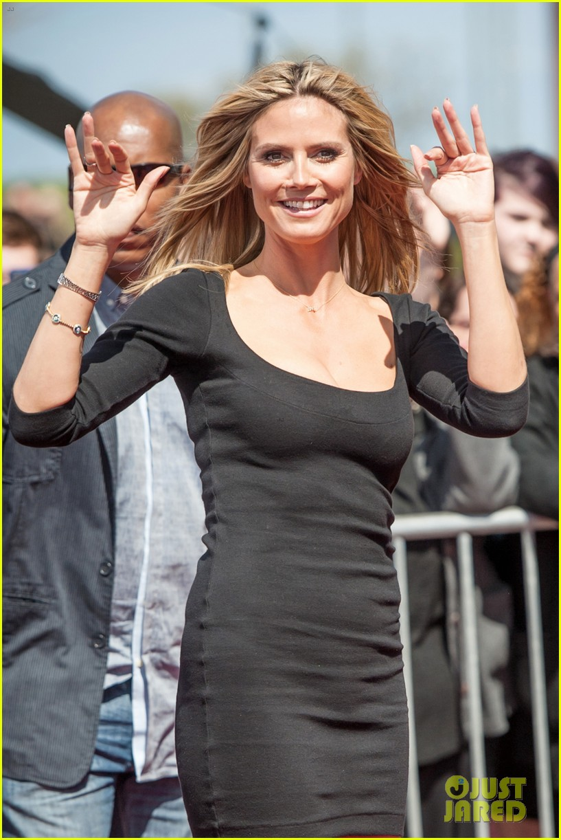 heidi klum mel b americas got talent taping 192825030