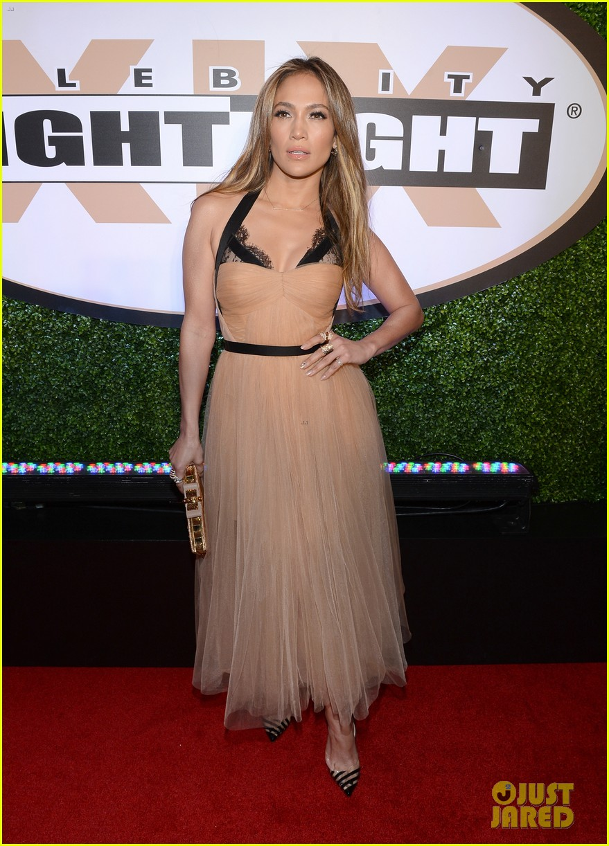 jennifer lopez celebrity fight night with casper smart 092836612
