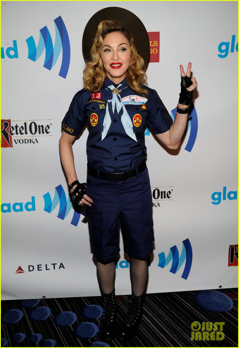 madonna boy scout costume at glaad media awards 2013 01