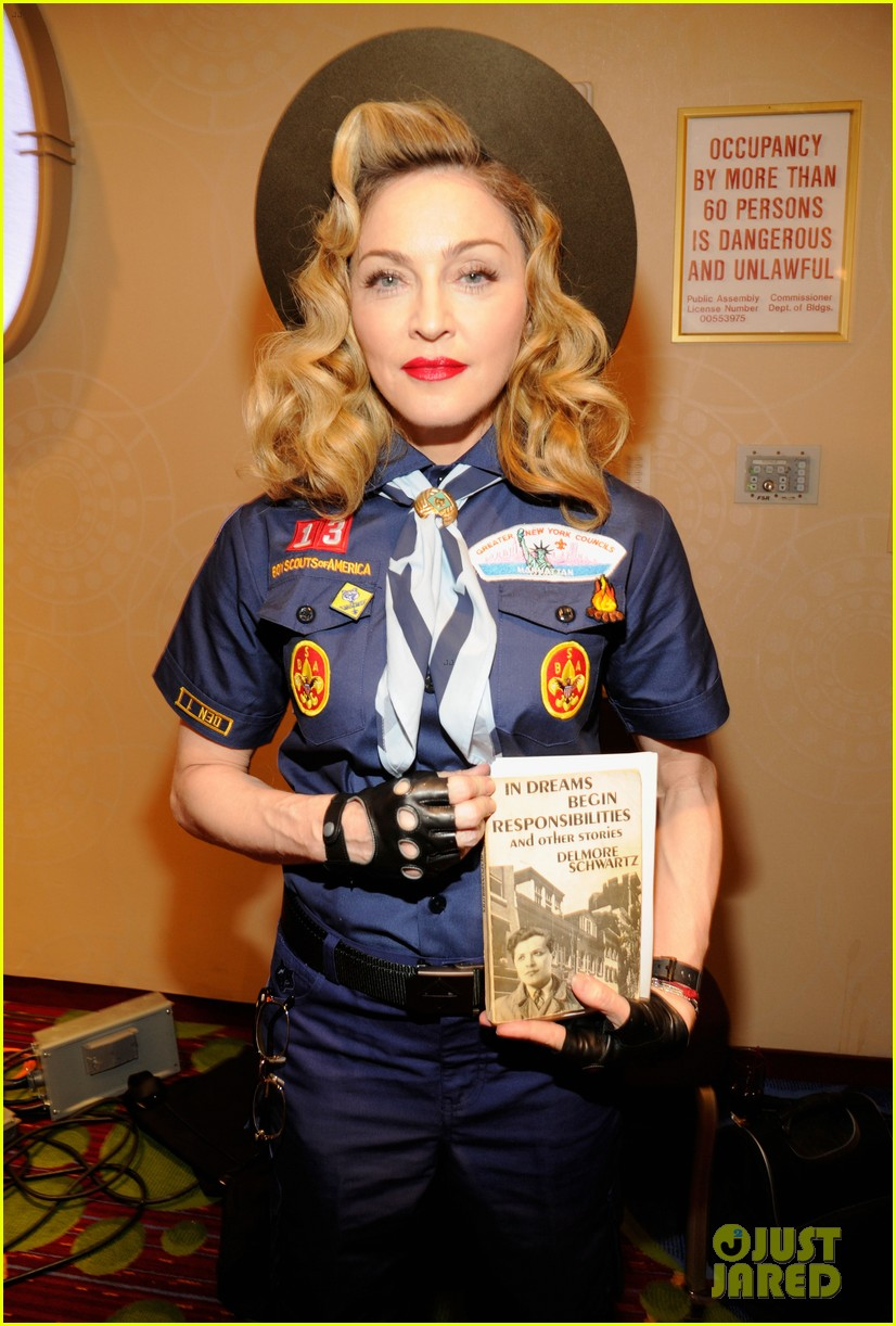 madonna boy scout costume at glaad media awards 2013 02