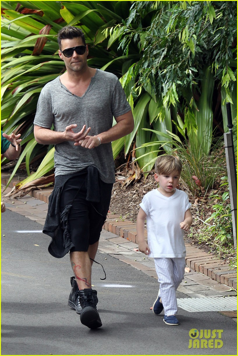 ricky martin taronga zoo with matteo and valentino 132826330