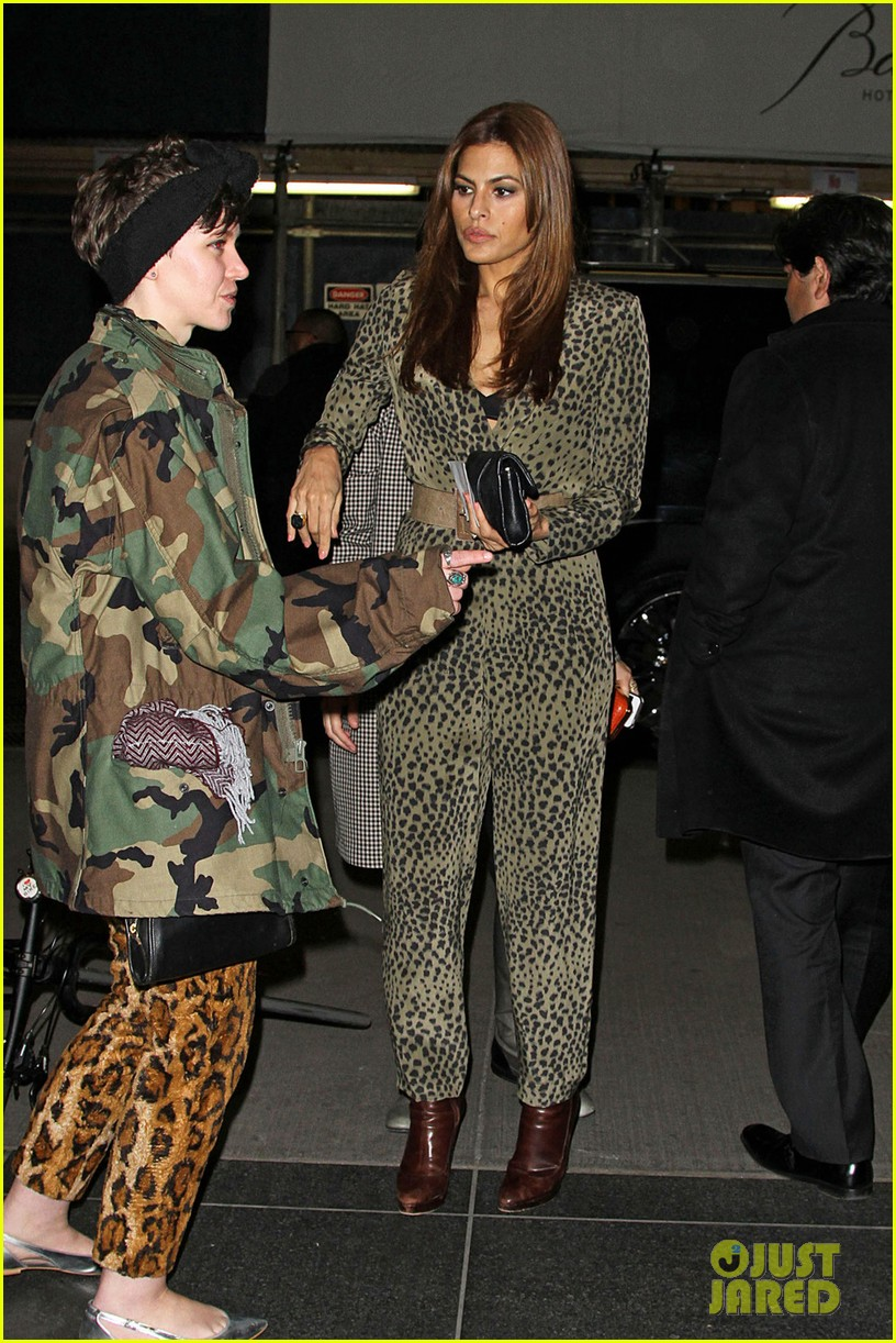 eva mendes leopard jumpsuit at private moma screening 06