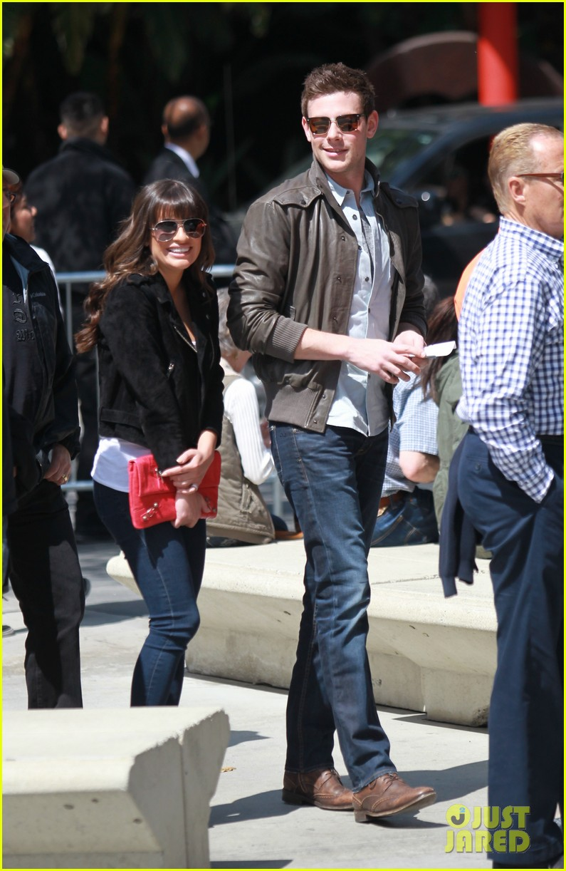 lea michele cory monteith kings game couple 05