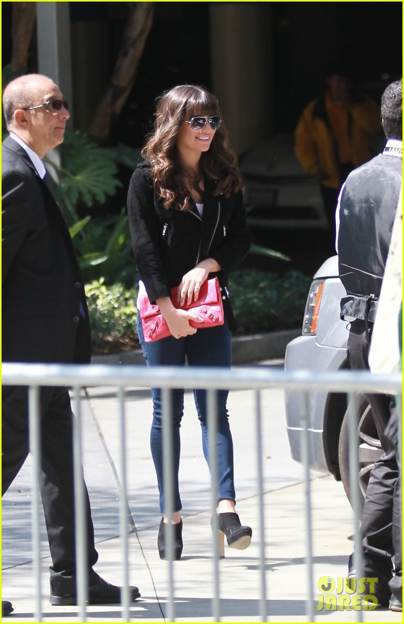 lea michele cory monteith kings game couple 062836372