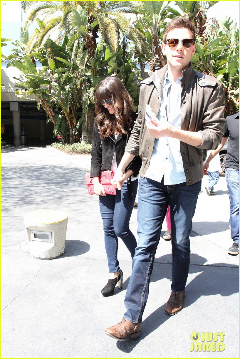 lea michele cory monteith kings game couple 19