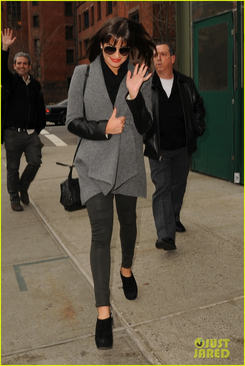 lea michele cory monteith big apple lunch 052826215