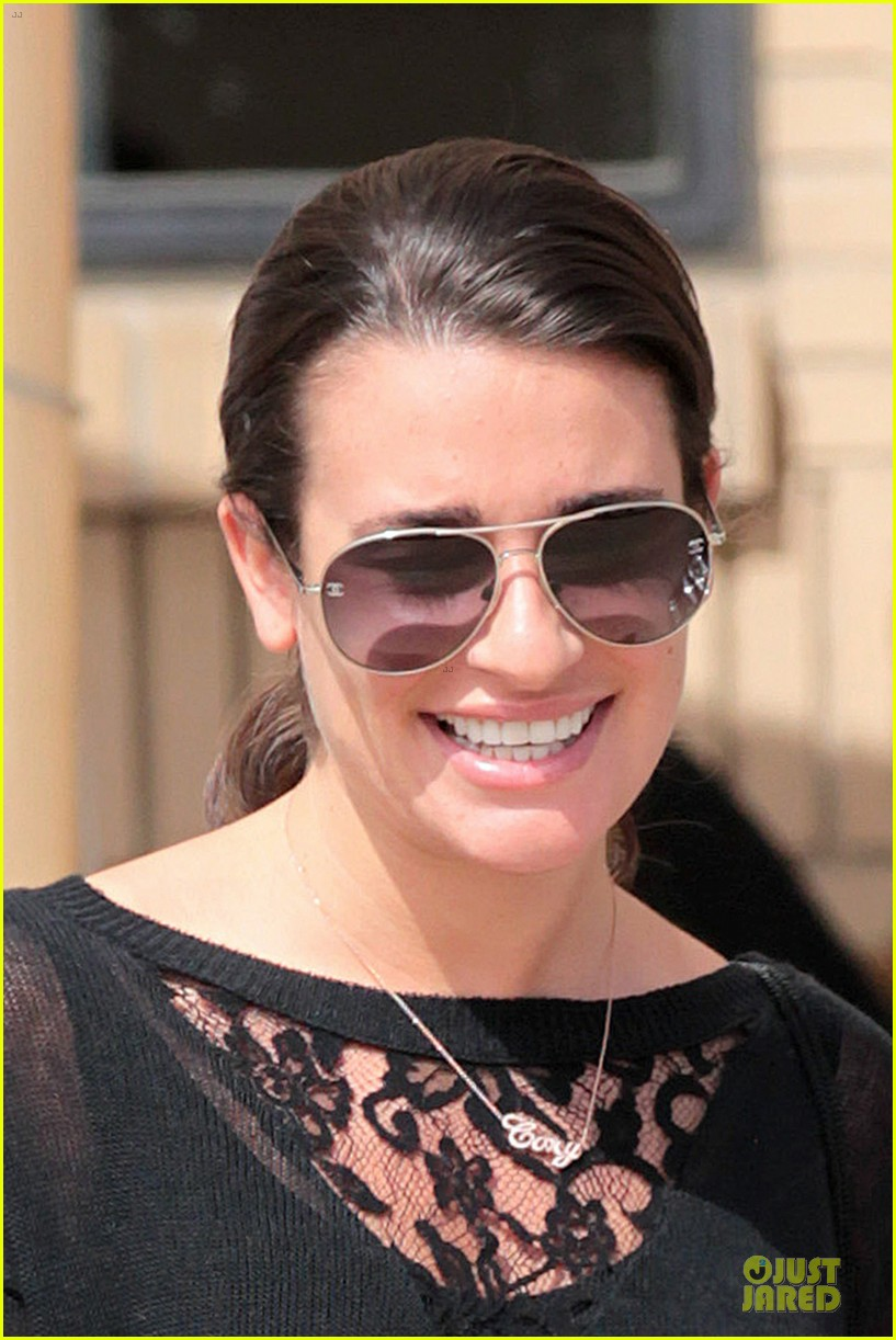 lea michele cory monteith necklace wearing gal 14
