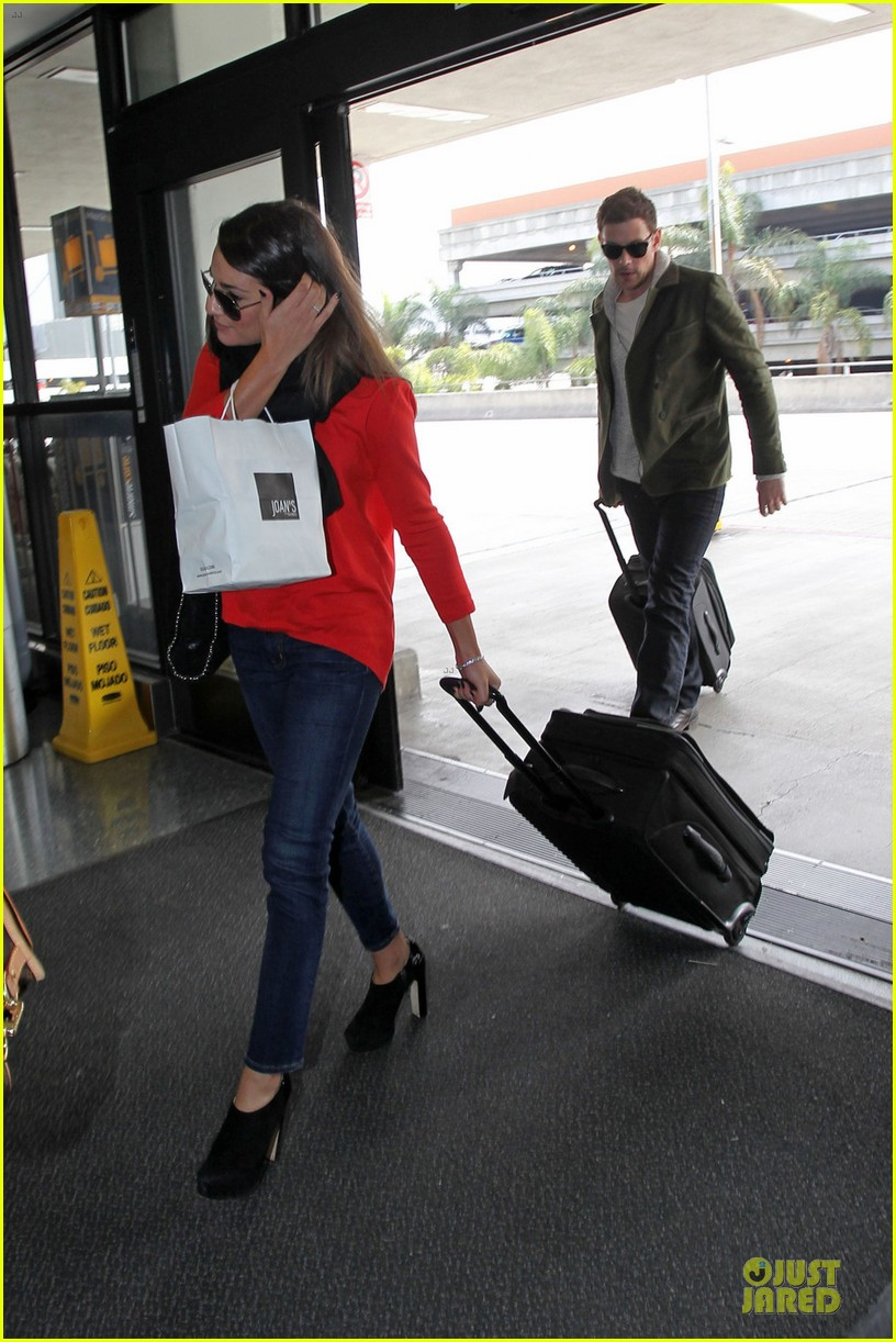lea michele cory monteith new york flying couple 03