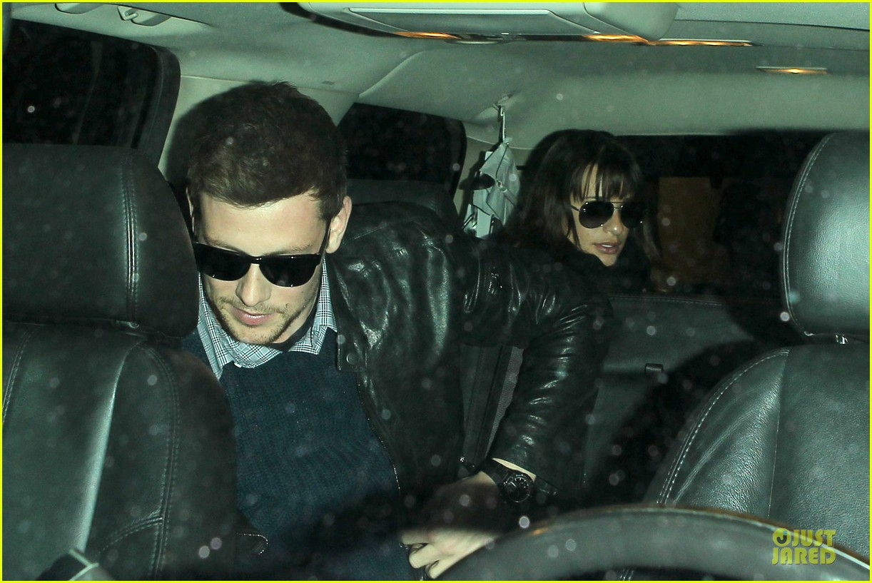 lea michele cory monteith snowy new york departure 022827687