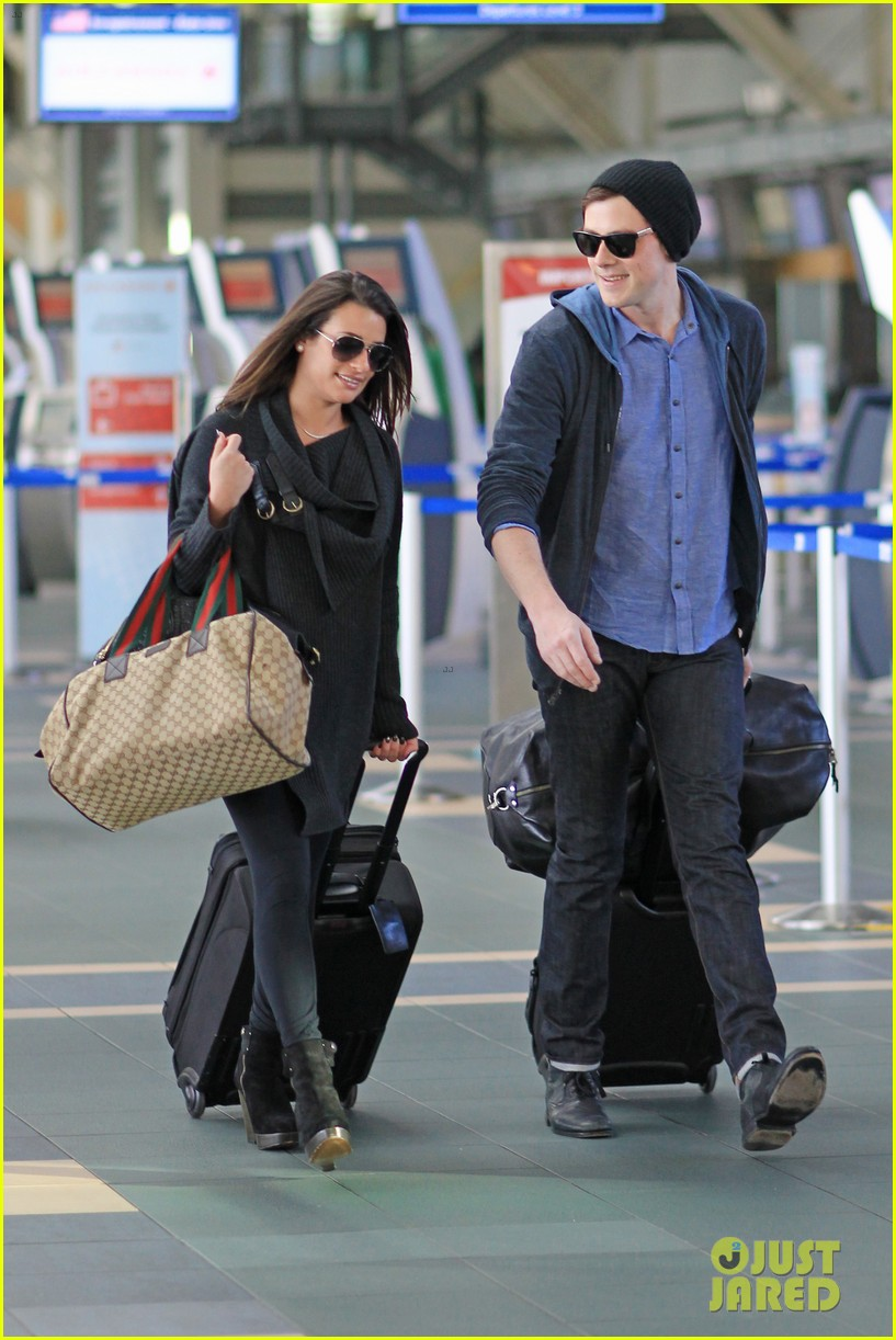 lea michele cory monteith from vancouver to l a 03