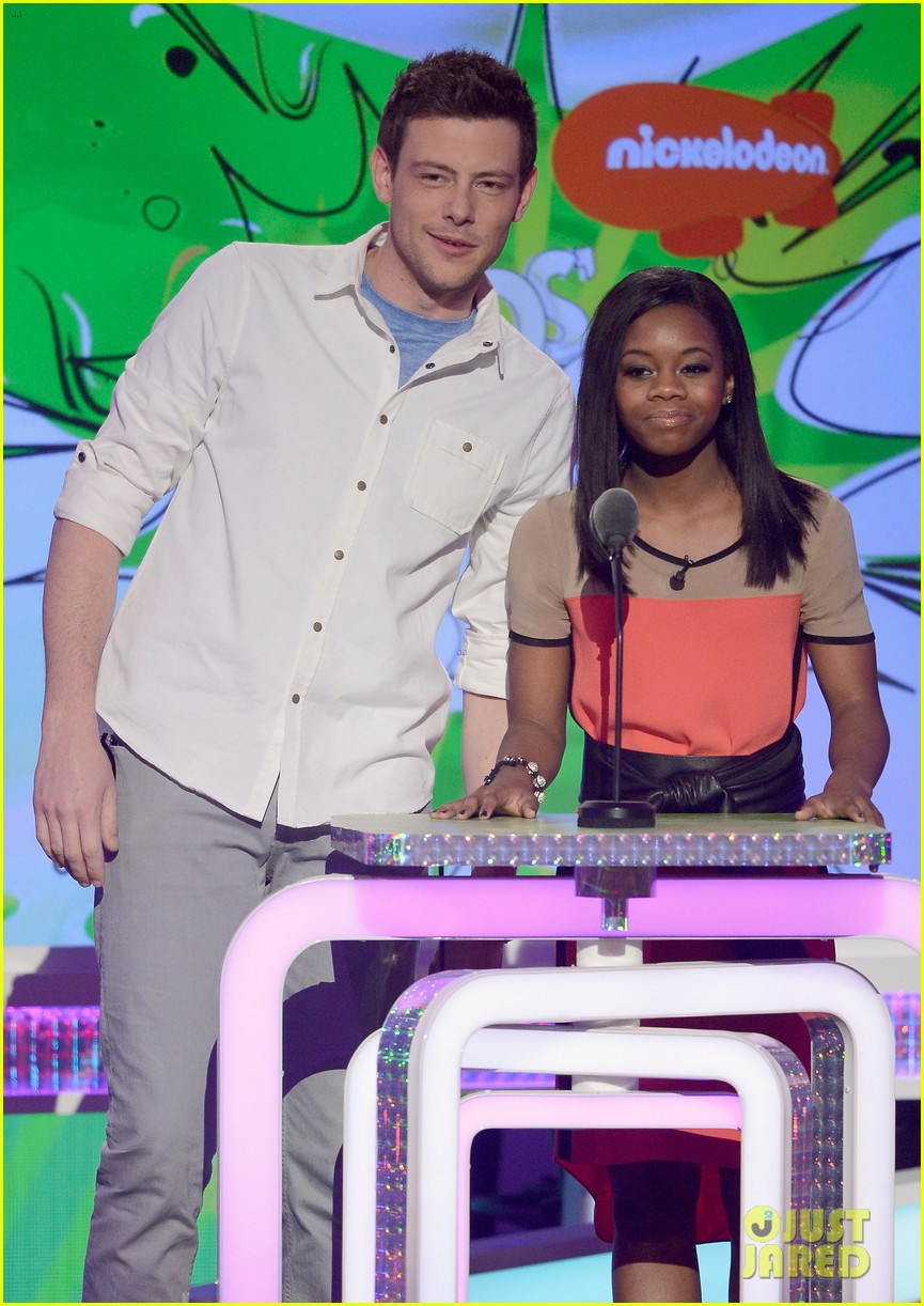 cory monteith gabby douglas kids choice awards 2013 03