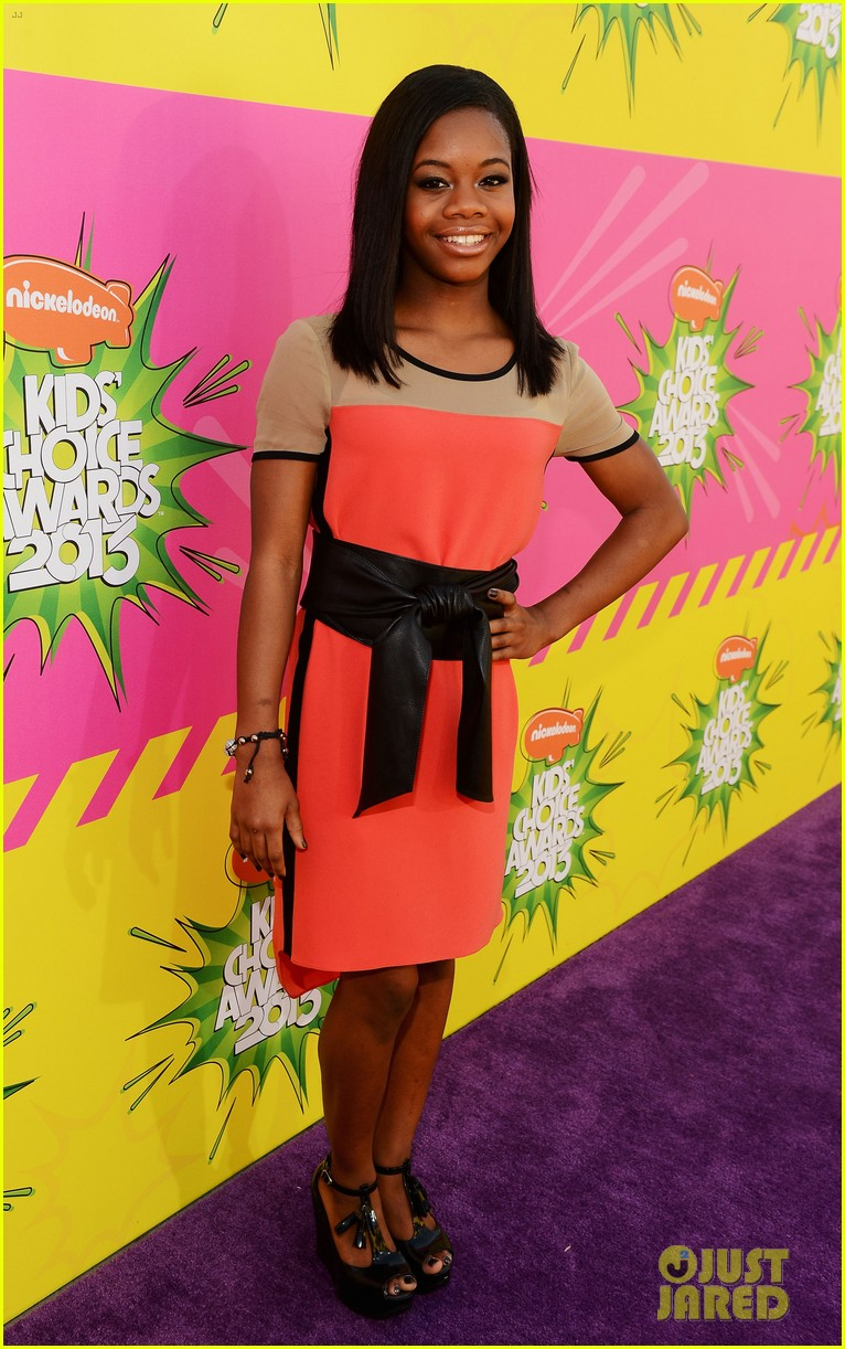cory monteith gabby douglas kids choice awards 2013 07