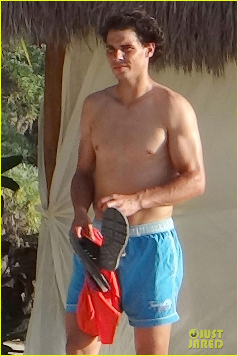 rafael nadal shirtless beach vacation with maria perrello 422826150