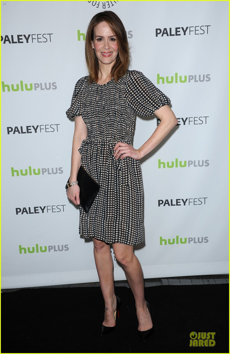 evan peters sarah paulson paleyfest with american horror story cast 06
